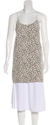 Tibi Silk Animal Print Dress