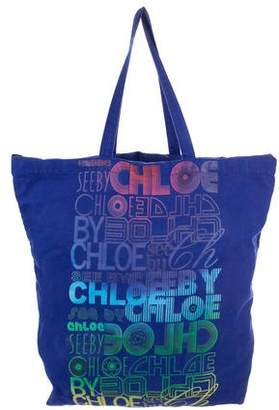 See by Chloe Logo Canvas Shopping Tote