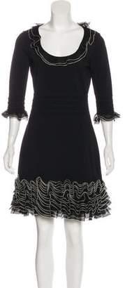 Alexander McQueen Ruffled Knee-Length Dress