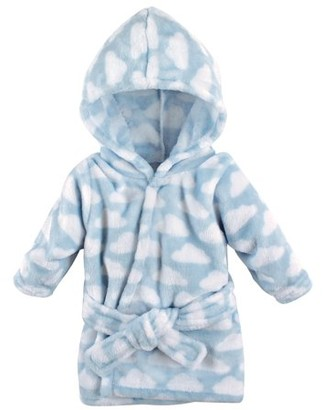 Hudson Baby Boy and Girl Animal Plush Bathrobe - Blue Clouds