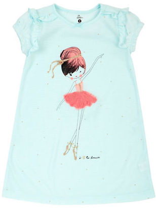 Petit Lem Little Girl's & Girl's Ballet Girl Roundneck Nightgown $28 thestylecure.com