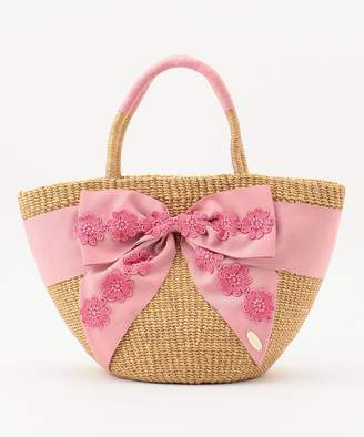 Tocca (トッカ) - TOCCA LACE RIBBON WICKER TOTE かごバッグ(C)FDB