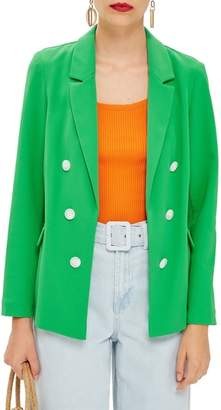 Topshop Bonded Double Breasted Jacket