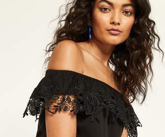 Oasis LACE TRIM BARDOT TOP