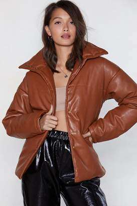 Nasty Gal Quilt to Kick Ass Faux Leather Coat