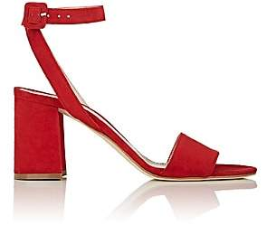 Barneys New York Women's Suede Ankle-Strap Sandals-Red
