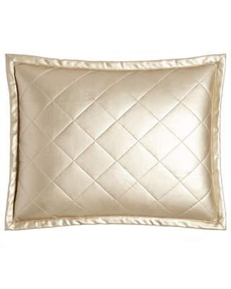Ann Gish Diamond Faux-Leather Pillow