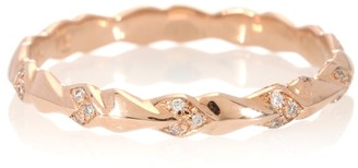 Anna Sheffield Tiny Sheaves 14kt rose gold and diamonds ring