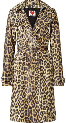 House of Fluff - Leopard-print Faux Fur Trench Coat - Leopard print