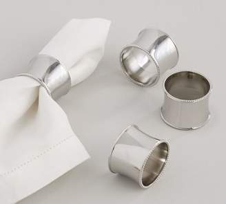 Pottery Barn Nickel Beaded Edge Napkin Ring