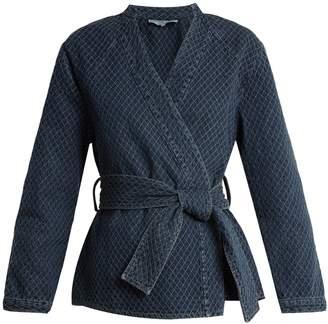 Apiece Apart Carina diamond-quilted denim jacket