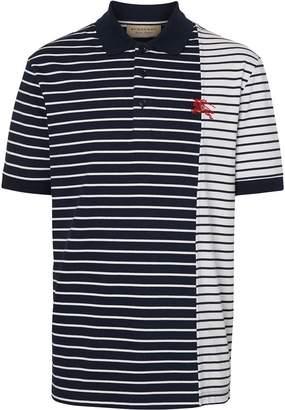 Burberry Contrast Stripe Cotton Polo Shirt