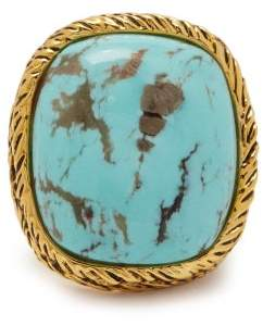 Aurelie Bidermann Miki Turquoise Gold Plated Ring - Womens - Turquoise