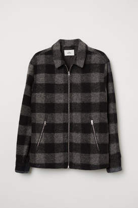 H&M Short Wool-blend Jacket - Black