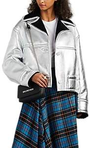MM6 MAISON MARGIELA Women's Metallic Shearling Jacket - Silver