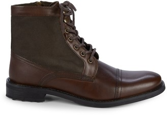 Kenneth Cole Reaction Round-Toe Leather Ankle Boots