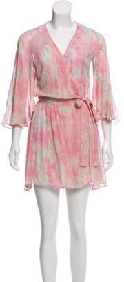 LoveShackFancy Printed Wrap Dress