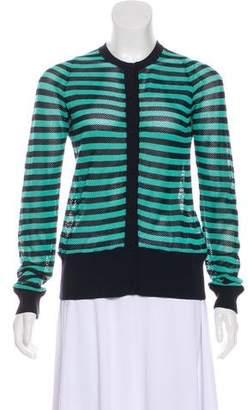 Akris Punto Open Knit Long Sleeve Cardigan