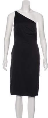Versace Silk One-Shoulder Dress