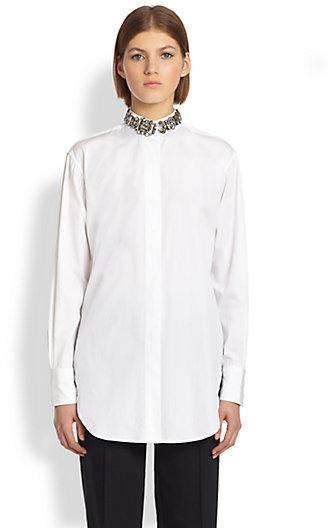 ADAM by Adam Lippes Embellished Collar Shirt