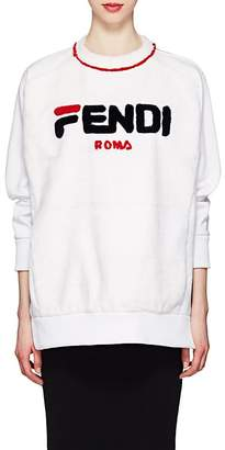 Fendi Women's Logo Cotton & Mink Fur Sweatshirt