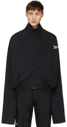 Vetements Black Reebok Edition Track Jacket