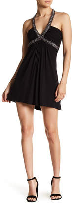 Sky Nilda Embellished Halter Dress