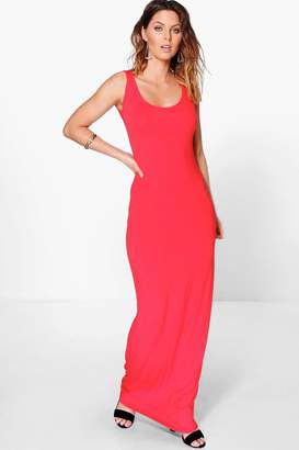 boohoo Sandy Basic Maxi Dress $20 thestylecure.com