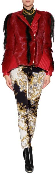 Just Cavalli Leather/Fur Jacket