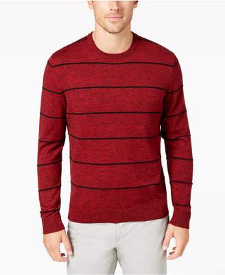 Alfani Men's Striped Crew-Neck Sweater, Created for Macy's