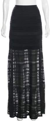 Herve Leger Patterned Maxi Skirt