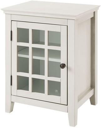 Linon Largo Antique Single Door Cabinet