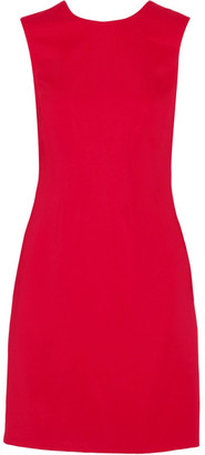 Versace - Stretch-cady Mini Dress - Claret $1,295 thestylecure.com