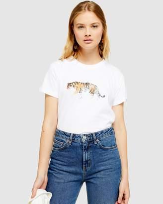Topshop Walking Tiger T-Shirt
