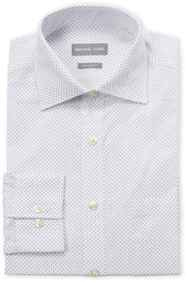 Michael Kors Squares Regular Fit Dress Shirt