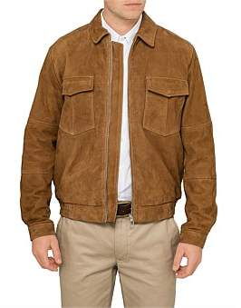 Paul Smith Suede Leather Military Jacket