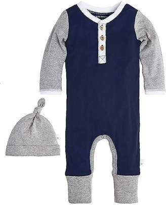 Burt's Bees Baby Henley Organic Cotton Coverall and Hat Set