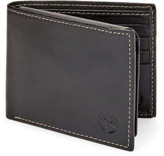 Timberland Black Leather Blix Passcase