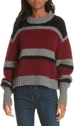 Veronica Beard Magda Stripe Alpaca & Merino Wool Blend Sweater