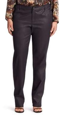 Lafayette 148 New York Lafayette 148 New York, Plus Size Plus Waxed Five-Pocket Jeans