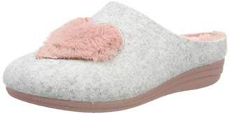 Macarena Women's GEMA52-AM Arlet Open Back Slippers, Grau Gris/Rosa
