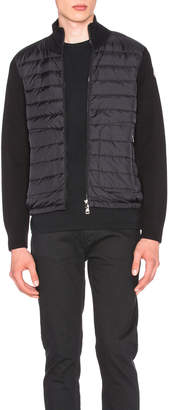 Moncler Cardigan Sweater in Black | FWRD