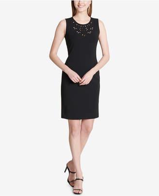 Calvin Klein Cutout-Yoke Sheath Dress