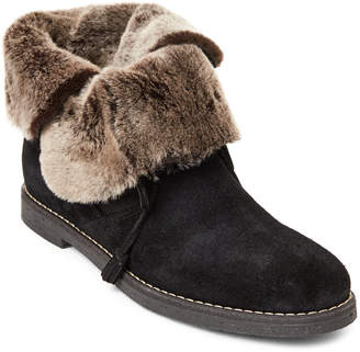 Nuova Black Suede Contrast Real Fur Boots
