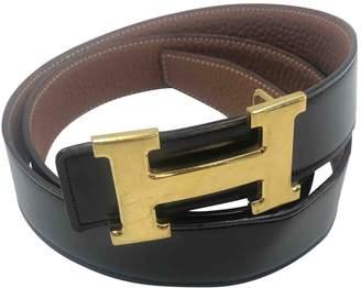 Hermes Vintage H Gold Leather Belts