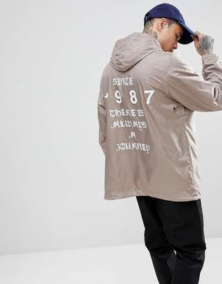 Napapijri Aumo Jacket With Back Print In Gray