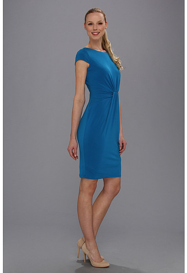 Anne Klein Crepe Jersey Center Wrapped Dress