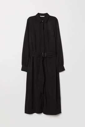 H&M Calf-length Shirt Dress - Black