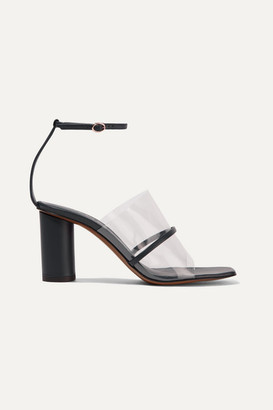 Neous Tuber Leather And Pvc Sandals - Navy