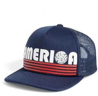 Women's Rip Curl Word Up Trucker Hat - Blue $22 thestylecure.com